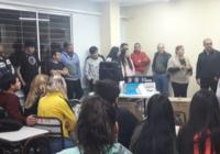 Entrega de equipo de sonido en sede Rivadavia